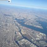 京浜工業地帯 東京上空